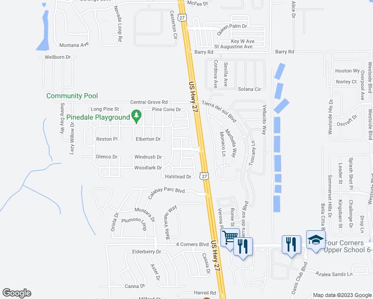 Map Of Davenport Florida.Florida Pines Boulevard Davenport Fl Walk Score