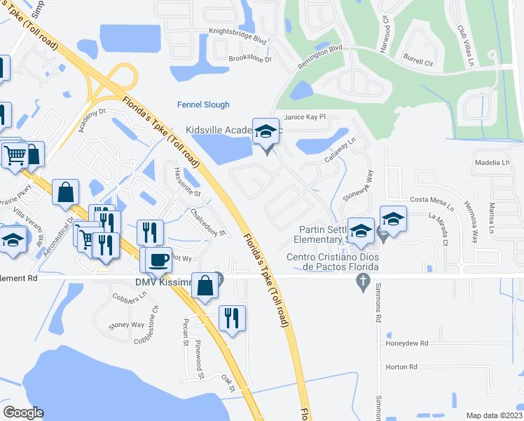 Map Of Kissimmee Florida.943 Tramells Trail Kissimmee Fl Walk Score