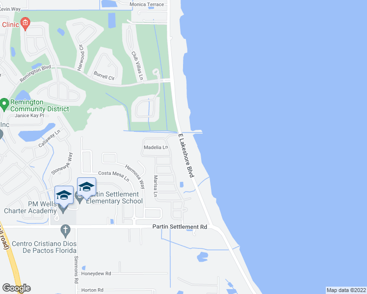 map of restaurants, bars, coffee shops, grocery stores, and more near East Lakeshore Boulevard in Kissimmee