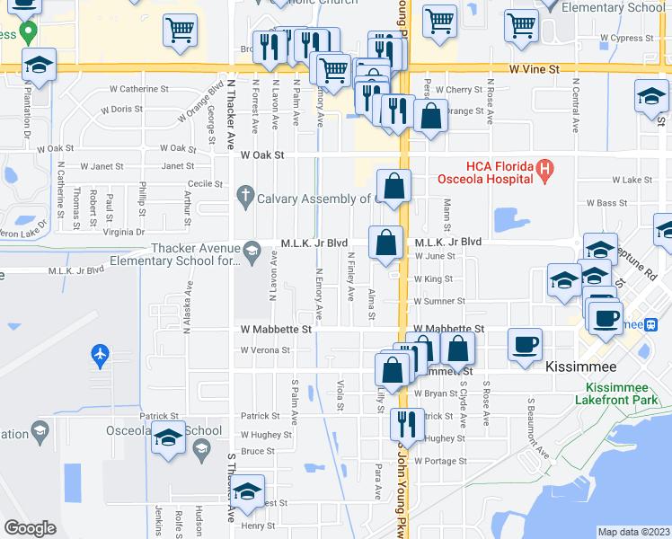 Kissimmee Florida Map.410 North Rosland Drive Kissimmee Fl Walk Score