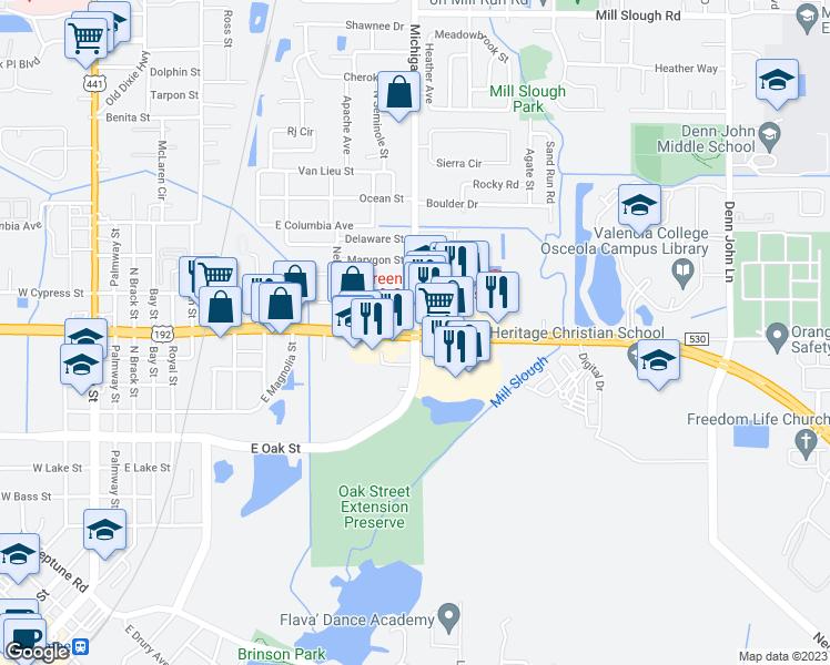 US-192 & Michigan Ave, Kissimmee FL - Walk Score