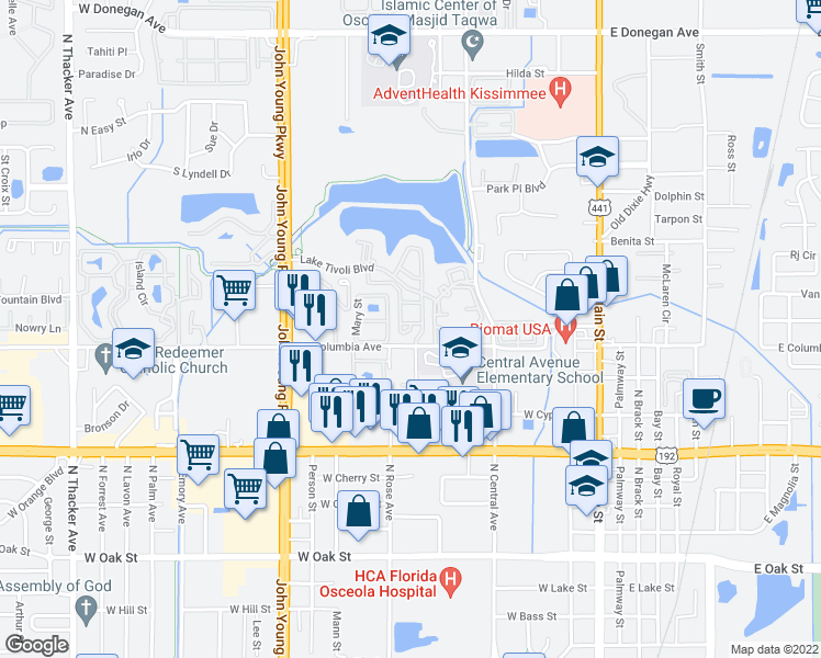Kissimmee Florida Map.630 Cecina Way Kissimmee Fl Walk Score