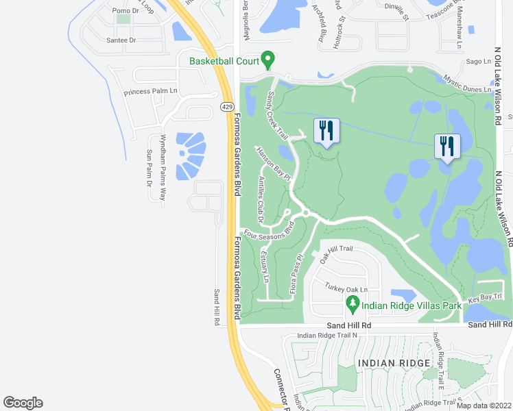 map of restaurants, bars, coffee shops, grocery stores, and more near 2208 Antilles Club Drive in Kissimmee