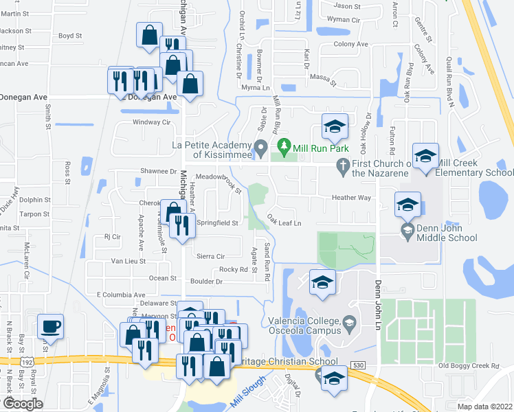 Kissimmee Florida Map.2138 Agate Street Kissimmee Fl Walk Score