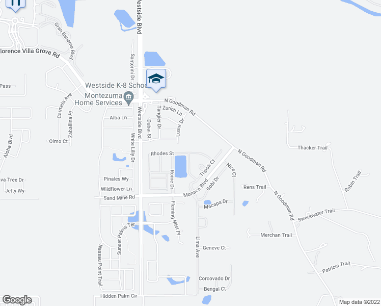 map of restaurants, bars, coffee shops, grocery stores, and more near 8936 Rhodes Street in Kissimmee