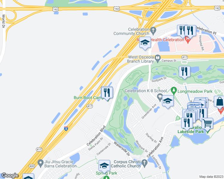 Map Of Kissimmee Florida.1120 Celebration Boulevard Kissimmee Fl Walk Score