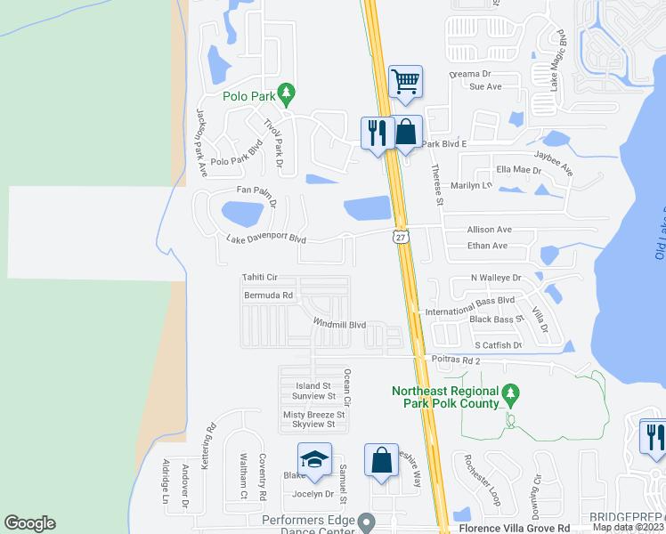 Davenport Washington Map.538 Washington Palm Loop Davenport Fl Walk Score