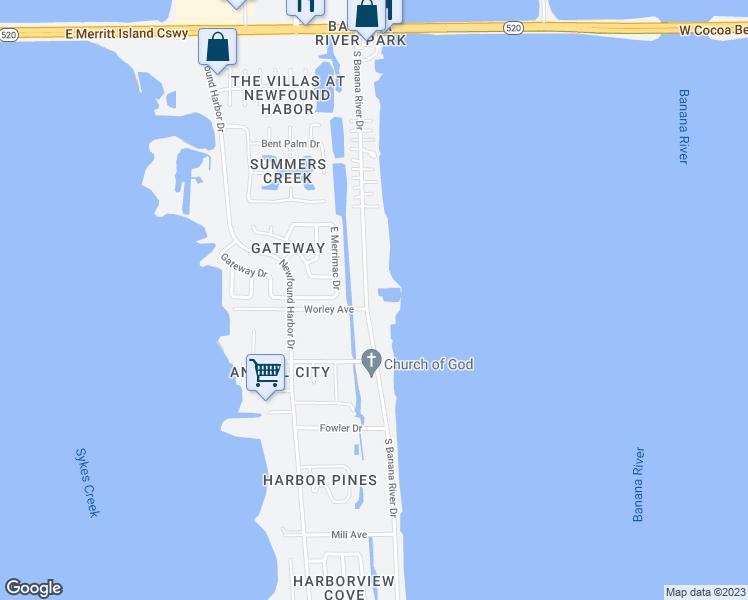 Map Of Merritt Island Florida.580 South Banana River Drive Merritt Island Fl Walk Score