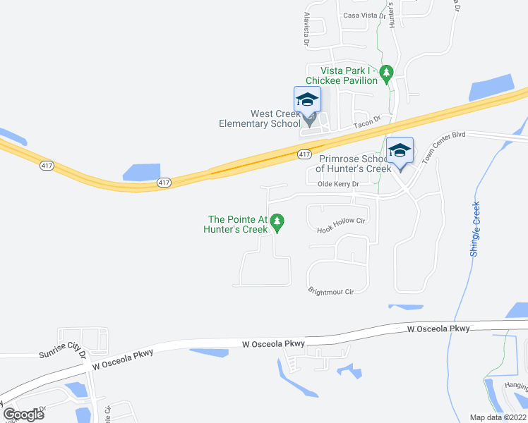 map of restaurants, bars, coffee shops, grocery stores, and more near 14656 Trapper Road in Orlando