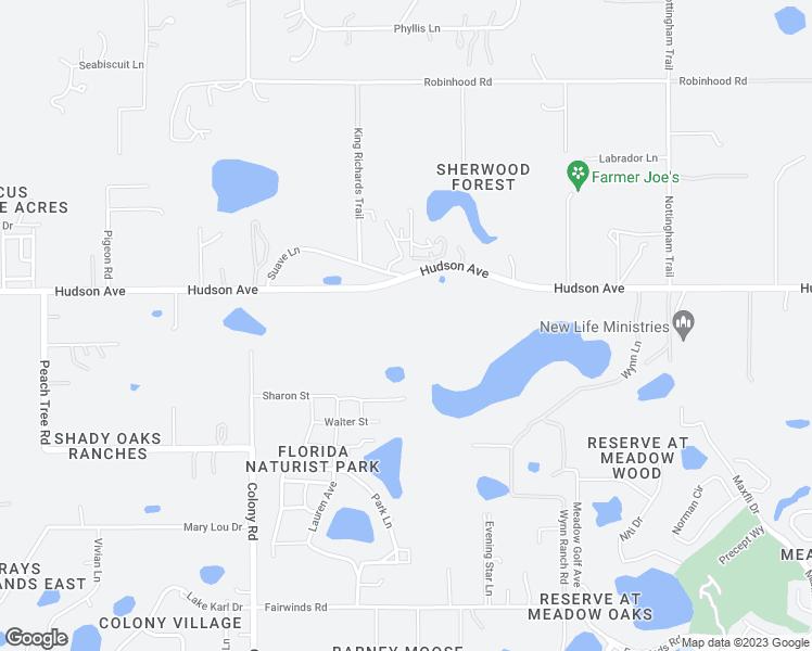 Map Of Hudson Florida.13741 Rosette Rd Hudson Fl Walk Score
