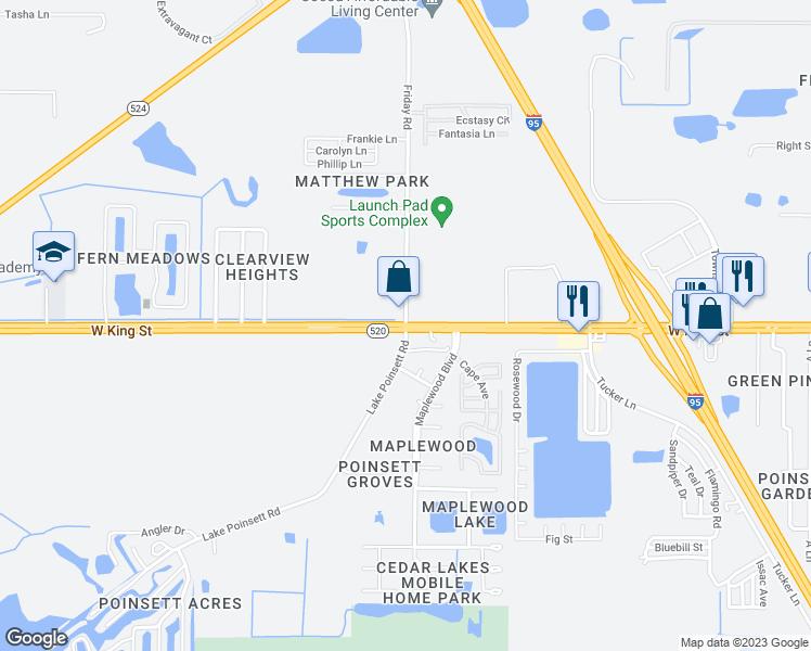 Cocoa Florida Map.Friday Rd Fl 520 Cocoa Fl Walk Score