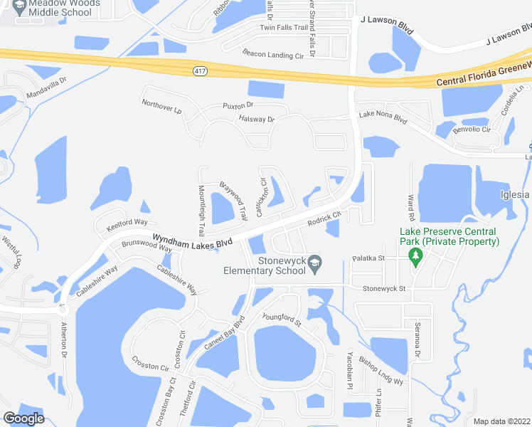map of restaurants, bars, coffee shops, grocery stores, and more near 2524 Carrickton Circle in Orlando