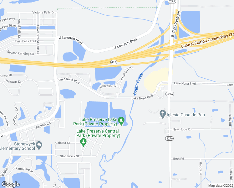 map of restaurants, bars, coffee shops, grocery stores, and more near 14001 Benvolio Circle in Orlando