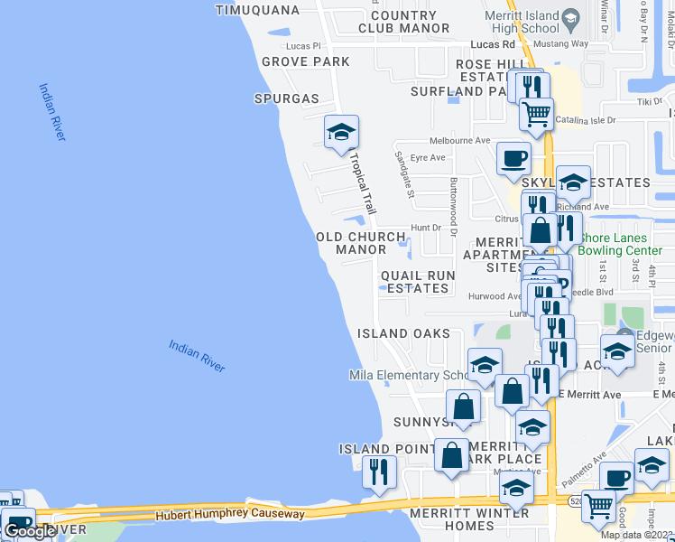 How Far Is Rockledge Florida From Merritt Island Florida