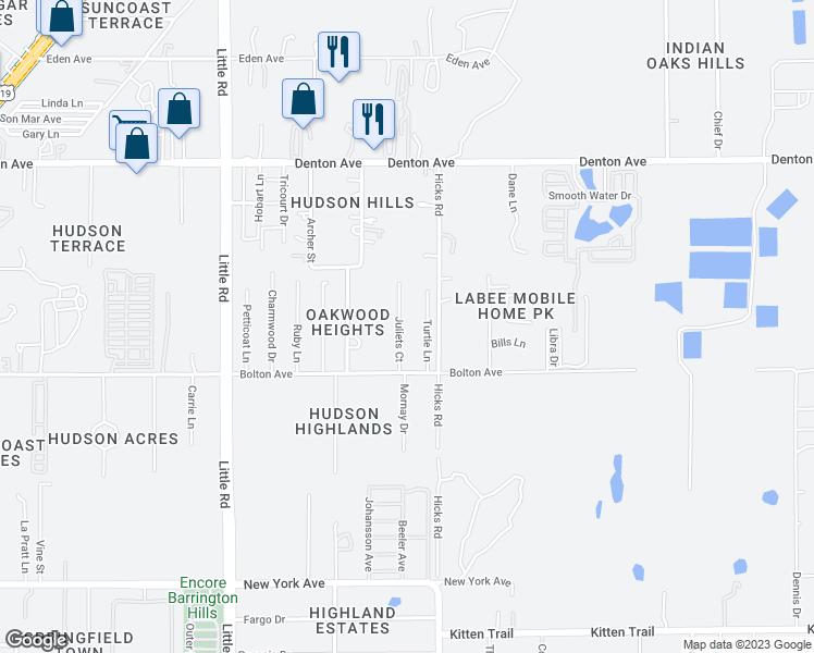 Map Of Hudson Florida.15604 Juliets Court Hudson Fl Walk Score