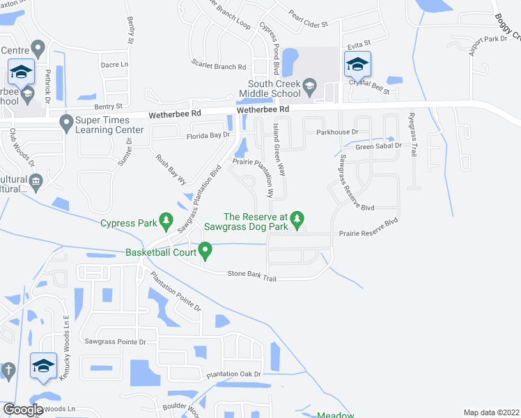 map of restaurants, bars, coffee shops, grocery stores, and more near 12293 Sabal Palmetto Place in Orlando