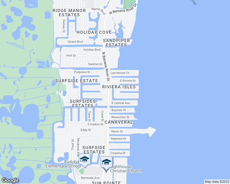 map of restaurants, bars, coffee shops, grocery stores, and more near 1675 Westport Road in Merritt Island