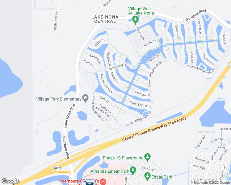 map of restaurants, bars, coffee shops, grocery stores, and more near 12051 Autumn Fern Lane in Orlando