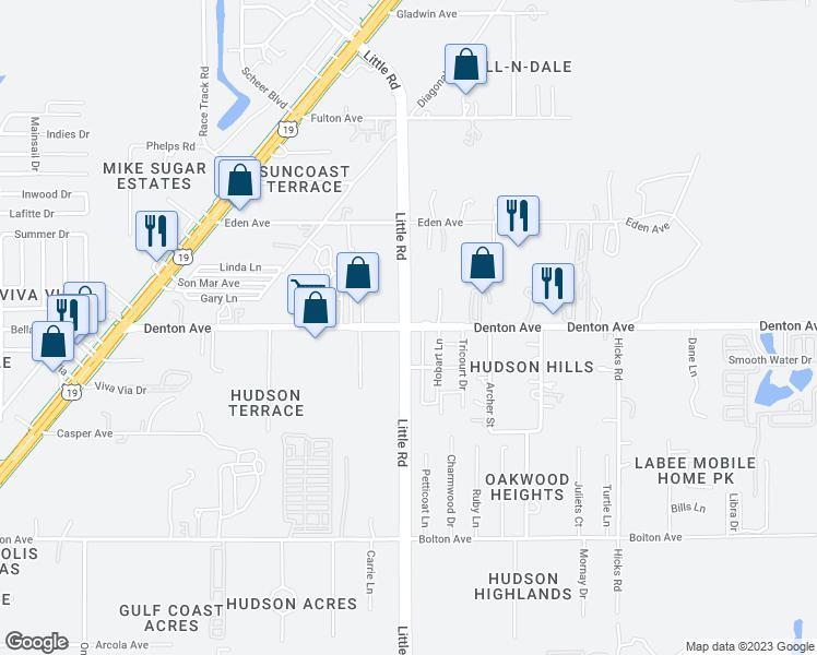 on map of florida denton