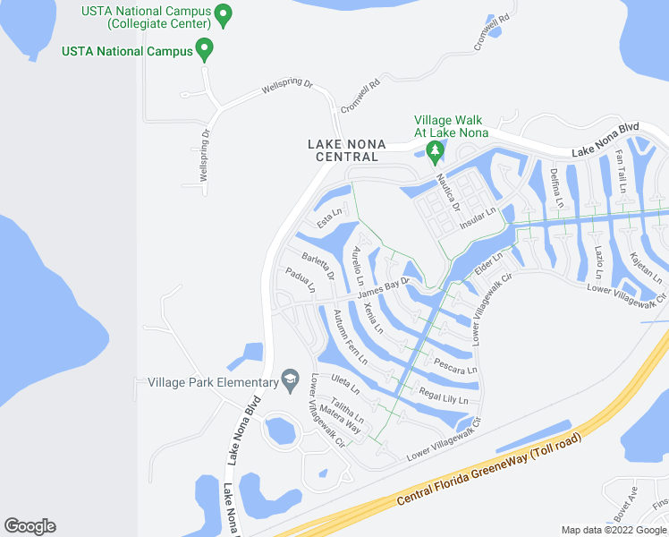 map of restaurants, bars, coffee shops, grocery stores, and more near 11827 Barletta Drive in Orlando