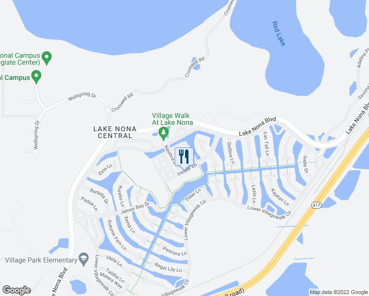 map of restaurants, bars, coffee shops, grocery stores, and more near 11842 Kipper Drive in Orlando