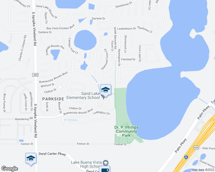 map of restaurants, bars, coffee shops, grocery stores, and more near 8040 Solitaire Court in Orlando