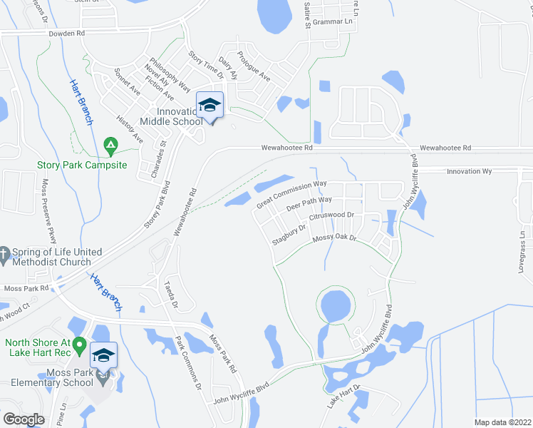 map of restaurants, bars, coffee shops, grocery stores, and more near 9018 Sandwood Way in Orlando