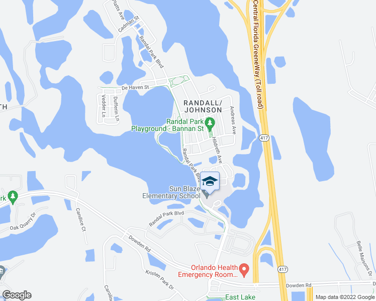map of restaurants, bars, coffee shops, grocery stores, and more near 8883 Randal Park Boulevard in Orlando