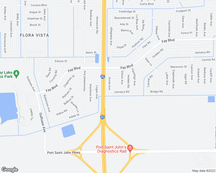 map of restaurants, bars, coffee shops, grocery stores, and more near 5950 Acme Avenue in Cocoa
