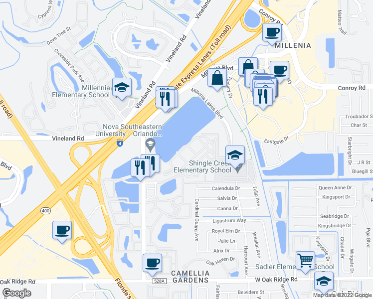 map of restaurants bars coffee shops grocery stores and more near 4530