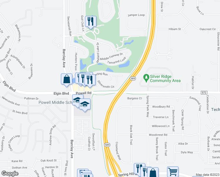 Spring Hill Florida Map.14550 Silversmith Circle Spring Hill Fl Walk Score