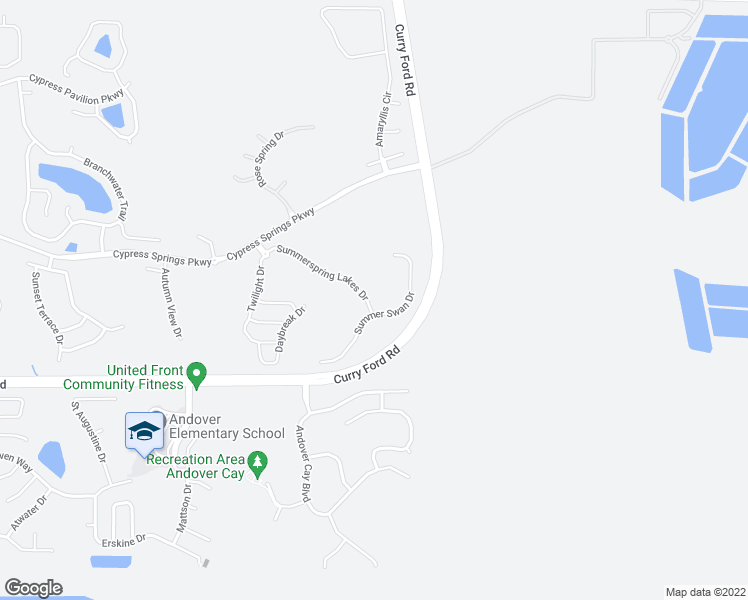 map of restaurants, bars, coffee shops, grocery stores, and more near 12035 Summerspring Lakes Drive in Orlando