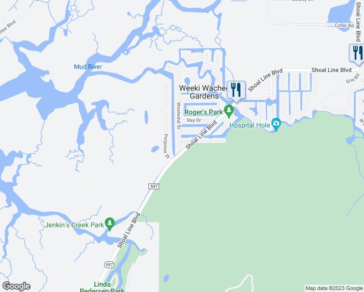 Weeki Wachee Florida Map.7020 Westwind Street Weeki Wachee Fl Walk Score