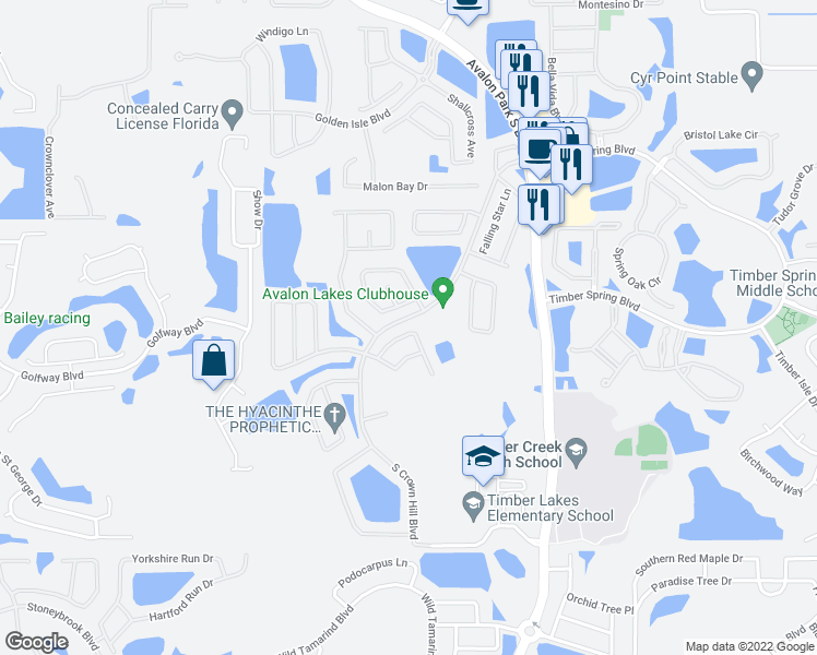 map of restaurants, bars, coffee shops, grocery stores, and more near 14020 Ocean Pine Circle in Orlando