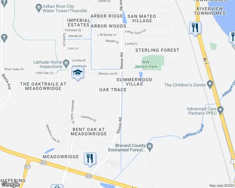 Titusville Florida Map.5642 Sisson Road Titusville Fl Walk Score