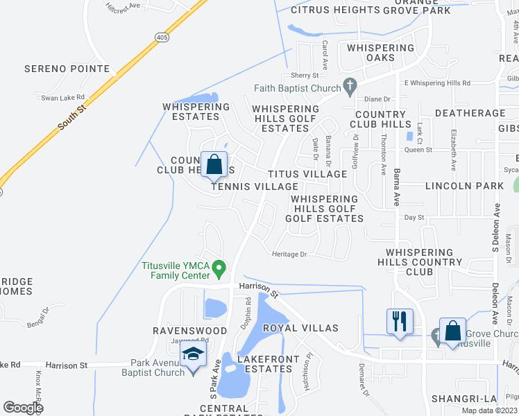 Titusville Florida Map.South Park Avenue Titusville Fl Walk Score