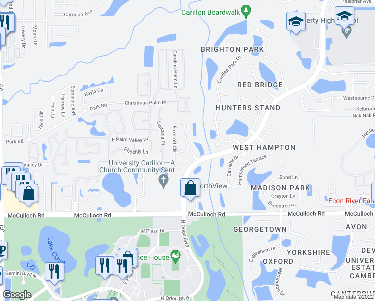 Oviedo Florida Map.3660 Foxcroft Circle Oviedo Fl Walk Score