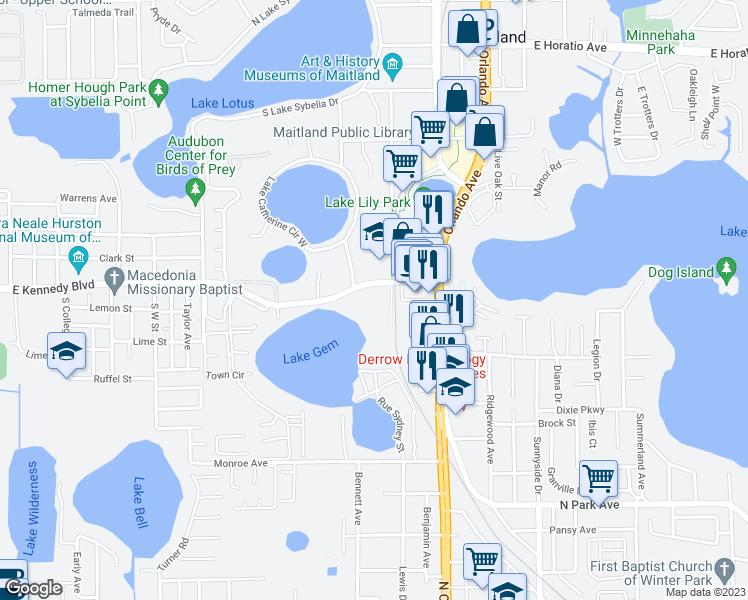 Maitland Florida Map.308 Lake Avenue Maitland Fl Walk Score