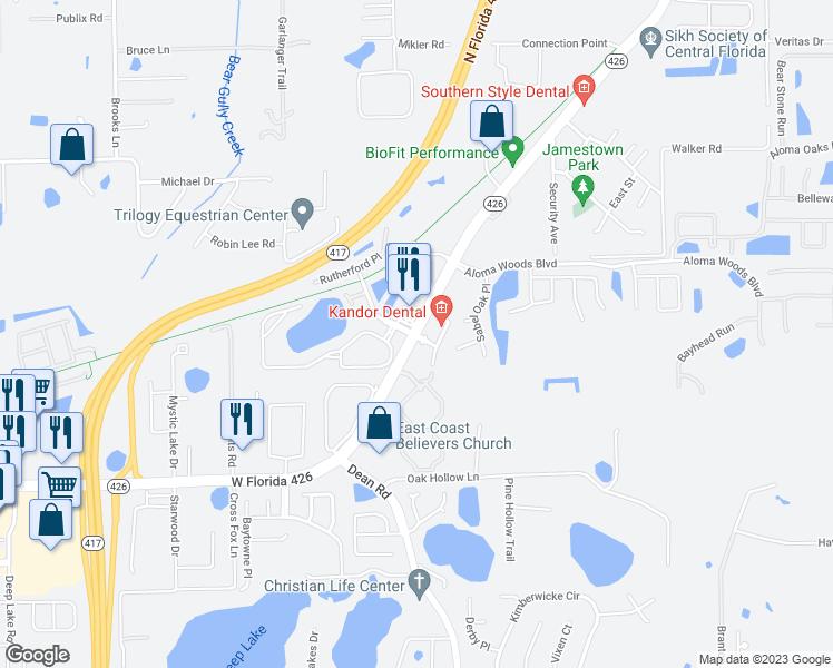 Oviedo Florida Map.Aloma Ave Via Loma Dr Oviedo Fl Walk Score