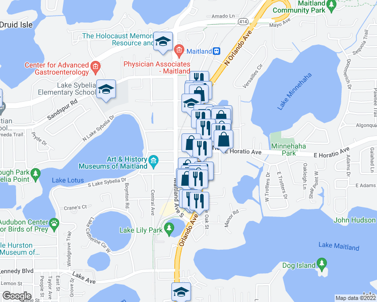 Maitland Florida Map.200 East Horatio Avenue Maitland Fl Walk Score