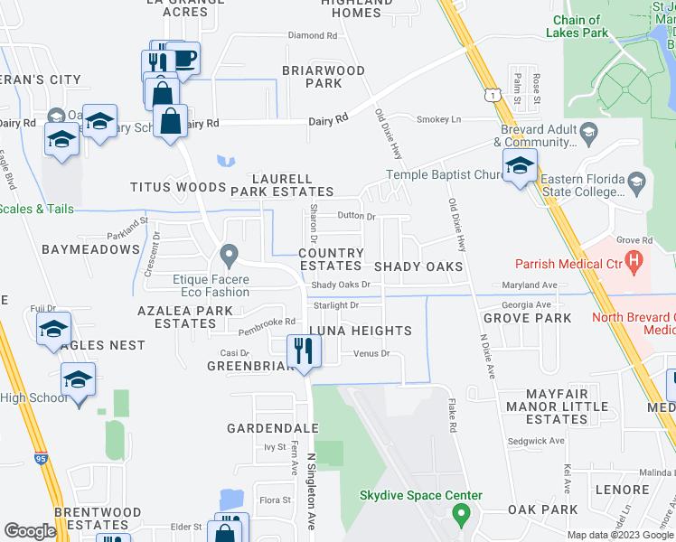 Eastern Florida State College Map.2845 Winstead Drive Titusville Fl Walk Score