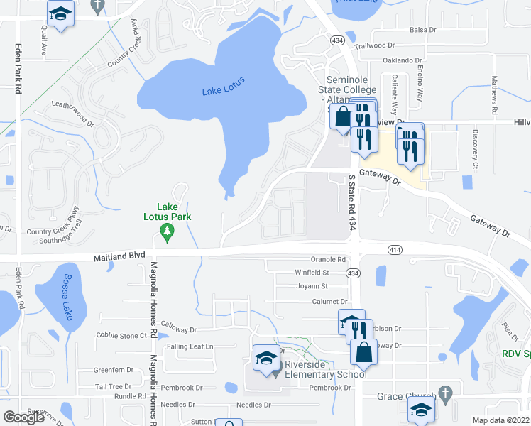 map of restaurants, bars, coffee shops, grocery stores, and more near 860 Grand Regency Pointe in Altamonte Springs