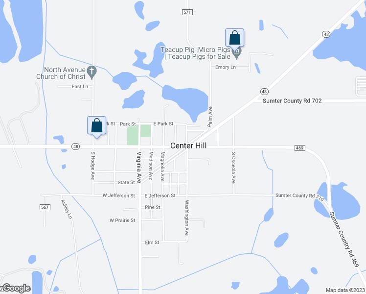 Center Hill Florida Map 178 East Kings Highway, Center Hill FL   Walk Score