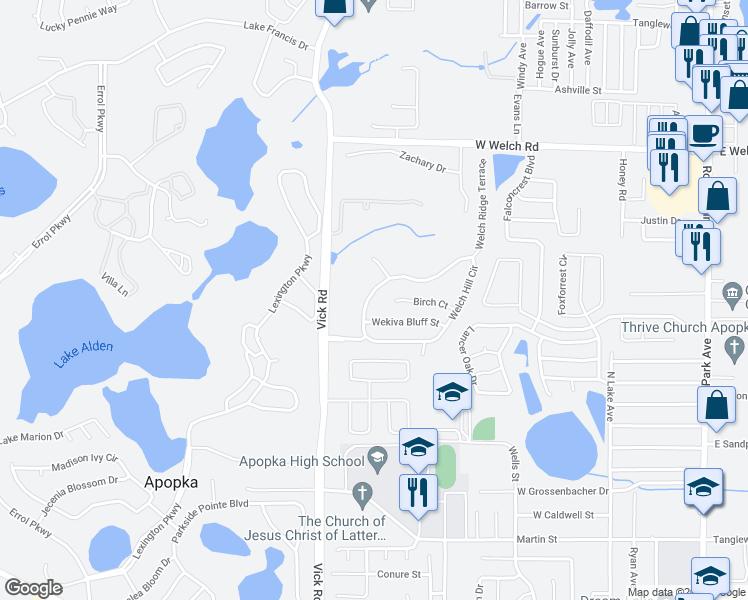 Apopka Florida Map.1075 Welch Hill Circle Apopka Fl Walk Score