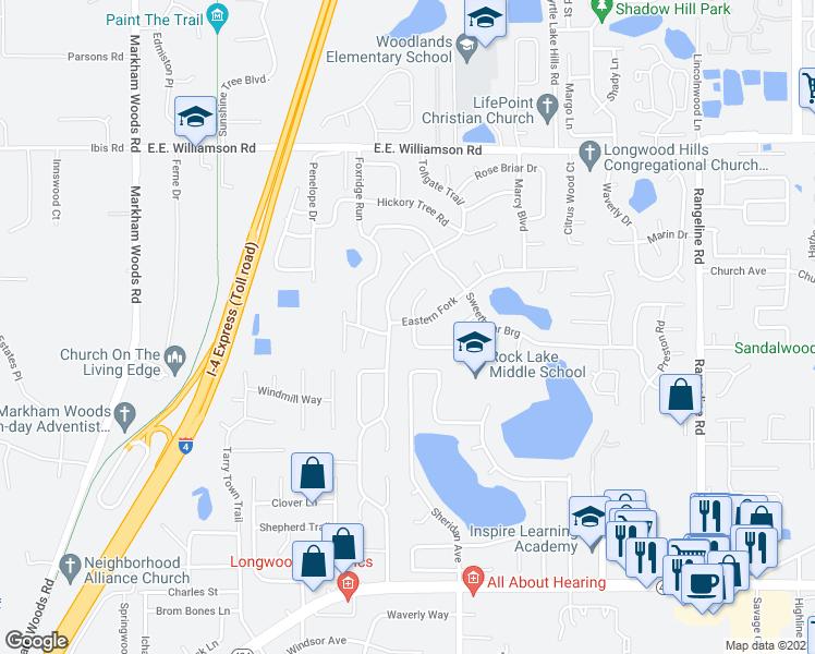 Longwood Florida Map.91 Eastern Fork Longwood Fl Walk Score
