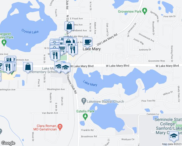 Lake Mary Florida Map.131 Calm Water Cove Lake Mary Fl Walk Score