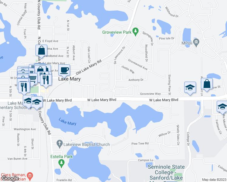 Sanford Florida Map.111 Rosecliff Circle Sanford Fl Walk Score