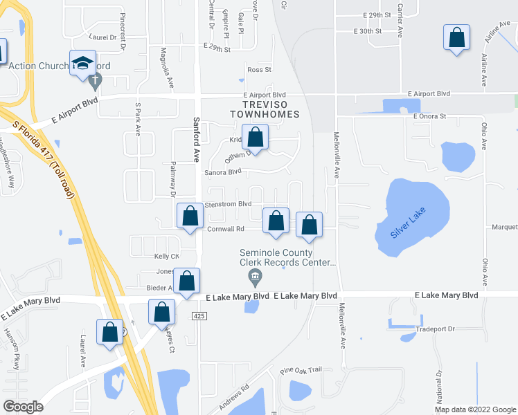 Sanford Florida Map.233 South Aberdeen Circle Sanford Fl Walk Score