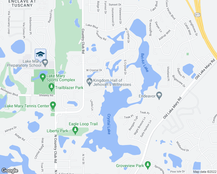 map of restaurants, bars, coffee shops, grocery stores, and more near 561 North Country Club Road in Lake Mary