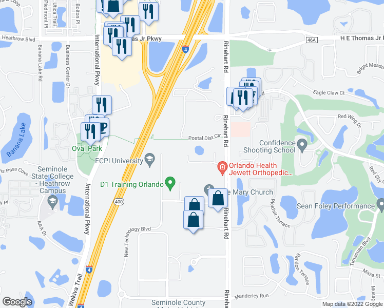 Map Of Lake Mary Florida.752 Stirling Center Place Lake Mary Fl Walk Score